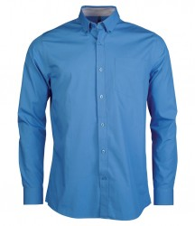 Kariban Long Sleeve Washed Poplin Shirt image