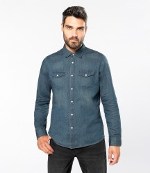 Kariban Long Sleeve Denim Shirt image