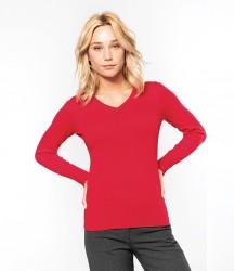 Kariban Ladies Cotton Acrylic V Neck Sweater image