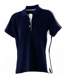 Image 4 of Finden and Hales Ladies Sports Cotton Piqué Polo Shirt