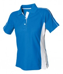 Image 2 of Finden and Hales Ladies Sports Cotton Piqué Polo Shirt