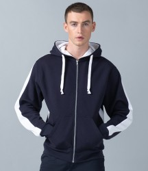 Finden and Hales Contrast Zip Hooded Sweatshirt image