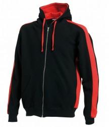 Image 2 of Finden and Hales Contrast Zip Hooded Sweatshirt