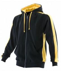 Image 3 of Finden and Hales Contrast Zip Hooded Sweatshirt