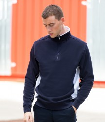 Finden & Hales Zip Neck Sweatshirt image