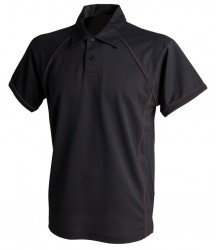 Image 12 of Finden and Hales Performance Piped Polo Shirt