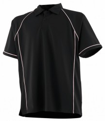 Image 15 of Finden and Hales Performance Piped Polo Shirt