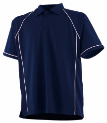 Image 4 of Finden and Hales Performance Piped Polo Shirt