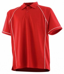 Image 6 of Finden and Hales Performance Piped Polo Shirt