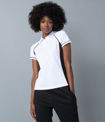 Finden and Hales Ladies Performance Piped Polo Shirt image