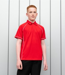 Finden and Hales Kids Performance Piped Polo Shirt image