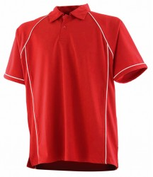 Image 10 of Finden and Hales Kids Performance Piped Polo Shirt