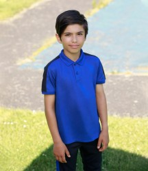 Image 1 of Finden and Hales Kids Contrast Panel Piqué Polo Shirt