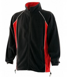 Image 2 of Finden and Hales Contrast Micro Fleece Jacket