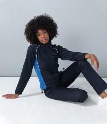 Finden and Hales Ladies Contrast Micro Fleece Jacket image