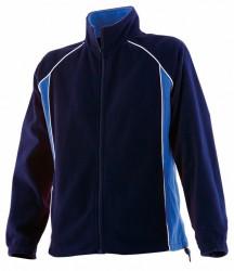 Image 3 of Finden and Hales Ladies Contrast Micro Fleece Jacket