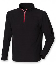 Image 2 of Finden and Hales Zip Neck Piped Micro Fleece