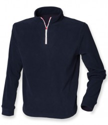 Image 3 of Finden and Hales Zip Neck Piped Micro Fleece