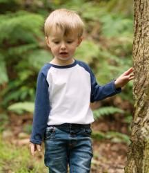 Larkwood Baby/Toddler Long Sleeve Baseball T-Shirt image