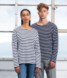 One By Mantis Unisex Long Sleeve Breton Stripe T-Shirt image