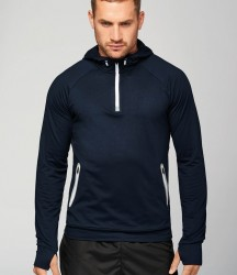 Proact Zip Neck Hooded Sweatshirt image