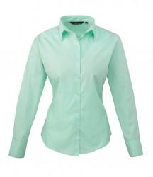 Premier Ladies Long Sleeve Poplin Shirt image