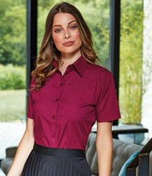 Premier Ladies Short Sleeve Poplin Blouse image