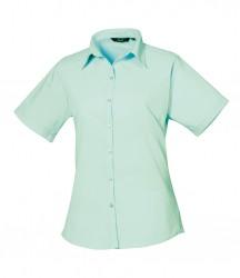 Premier Ladies Short Sleeve Poplin Blouse image