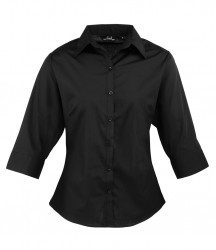 Premier Ladies 3/4 Sleeve Poplin Shirt image