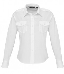 Premier Ladies Long Sleeve Pilot Shirt image