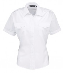 Premier Ladies Short Sleeve Pilot Shirt image