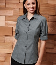 Premier Ladies Cross-Dye Roll Sleeve Shirt image