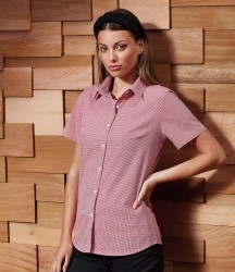 Premier Ladies Gingham Short Sleeve Shirt image