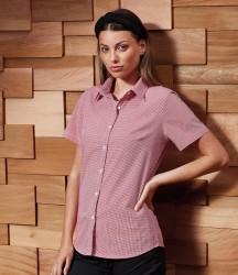 Premier Ladies Gingham Short Sleeve Shirt image