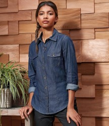 Premier Ladies Jeans Stitch Denim Shirt image