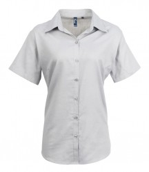 Premier Ladies Signature Short Sleeve Oxford Shirt image