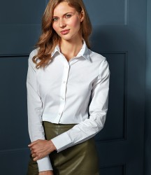 Premier Ladies Long Sleeve Stretch Fit Poplin Shirt image