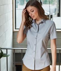 Premier Ladies Short Sleeve Stretch Fit Poplin Shirt image