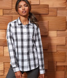 Premier Ladies Ginmill Check Long Sleeve Shirt image