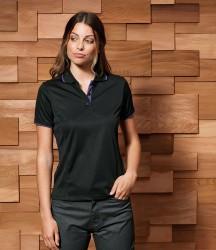 Premier Ladies Contrast Coolchecker® Piqué Polo Shirt image