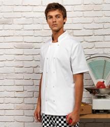 Premier Unisex Short Sleeve Stud Front Chef's Jacket image
