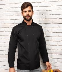Premier Unisex Long Sleeve Stud Front Chef's Jacket image
