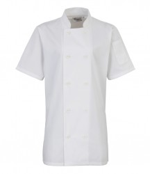Premier Ladies Short Sleeve Chef's Jacket image