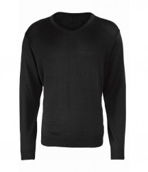 Image 2 of Premier Knitted Cotton Acrylic V Neck Sweater