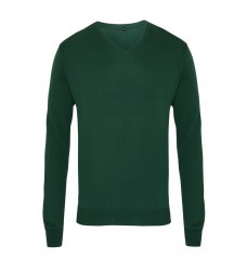 Image 3 of Premier Knitted Cotton Acrylic V Neck Sweater