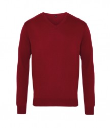 Image 4 of Premier Knitted Cotton Acrylic V Neck Sweater