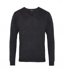 Image 5 of Premier Knitted Cotton Acrylic V Neck Sweater