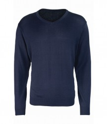 Image 6 of Premier Knitted Cotton Acrylic V Neck Sweater