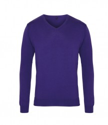 Image 7 of Premier Knitted Cotton Acrylic V Neck Sweater