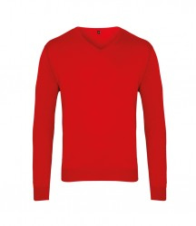 Image 8 of Premier Knitted Cotton Acrylic V Neck Sweater